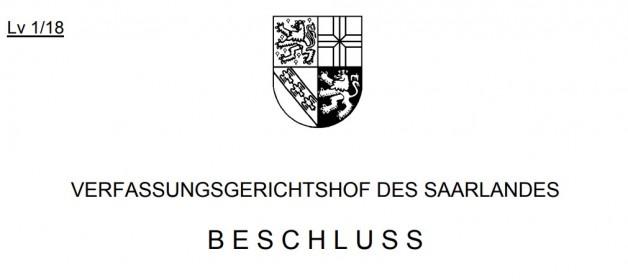 Beschluss des Verfassungsgerichtshof des Saarlandes zur Messdatei